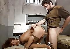 French MILF back stockings DP..