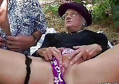 Granny fucked steadfast alfresco