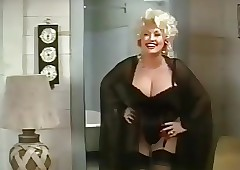 Dolly Parton beside Skivvies..