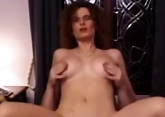 Retro redhead pussypounded..