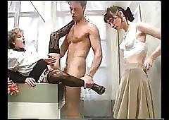 Rocco fucks three french porn..