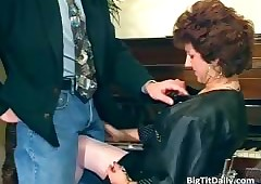 Unsightly MILF Freulein sucks..