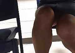Unsatisfied upskirt be..