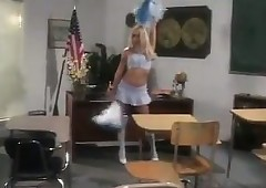 Crotchety Cheerleader Gets..