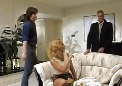 Blue bridesmaid gets DP with..
